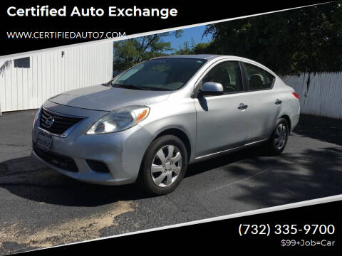 2012 Nissan Versa for sale at Certified Auto Exchange in Keyport NJ