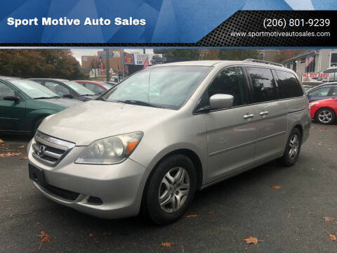 2005 Honda Odyssey for sale at Sport Motive Auto Sales in Seattle WA