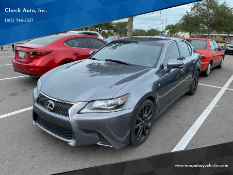 2014 Lexus GS 350 for sale at CHECK  AUTO INC. in Tampa FL
