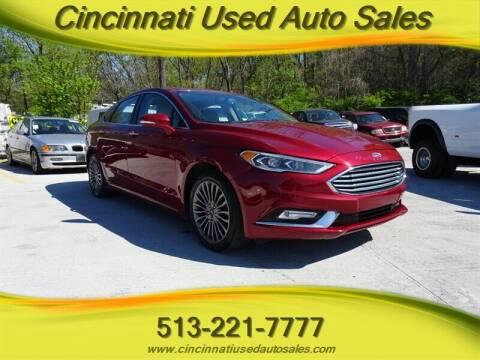 2017 Ford Fusion for sale at Cincinnati Used Auto Sales in Cincinnati OH