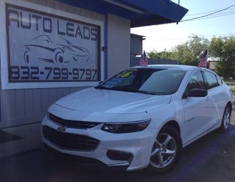 2016 Chevrolet Malibu for sale at AUTO LEADS in Pasadena TX