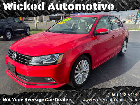 2015 Volkswagen Jetta for sale at Wicked Automotive in Fort Wayne IN