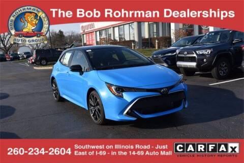 2021 Toyota Corolla Hatchback for sale at BOB ROHRMAN FORT WAYNE TOYOTA in Fort Wayne IN
