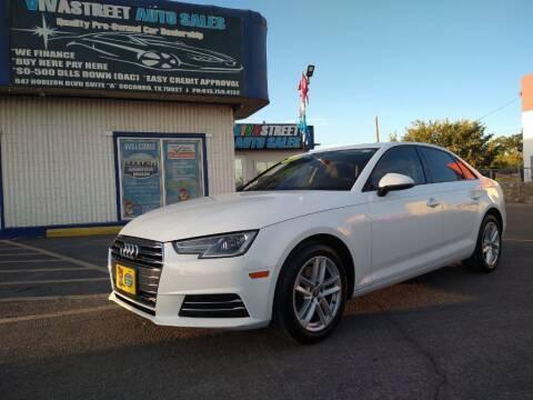 2017 Audi A4 for sale at VIVASTREET AUTO SALES LLC - VivaStreet Auto Sales in Socorro TX
