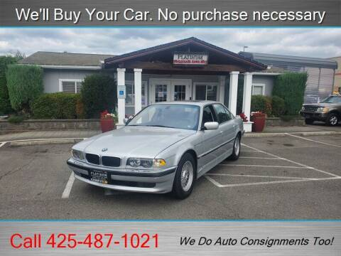 2001 BMW 7 Series for sale at Platinum Autos in Woodinville WA