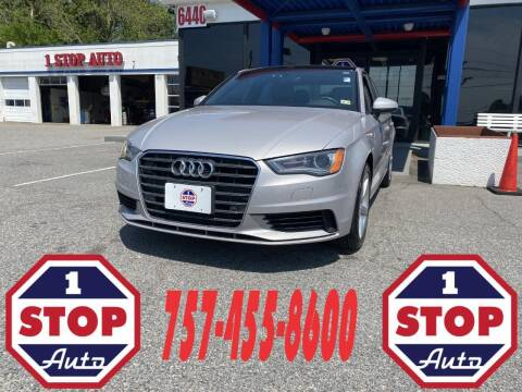 2016 Audi A3 for sale at 1 Stop Auto in Norfolk VA