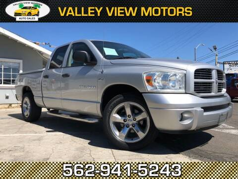 2007 Dodge Ram Pickup 1500 for sale at Valley View Motors in Whittier CA