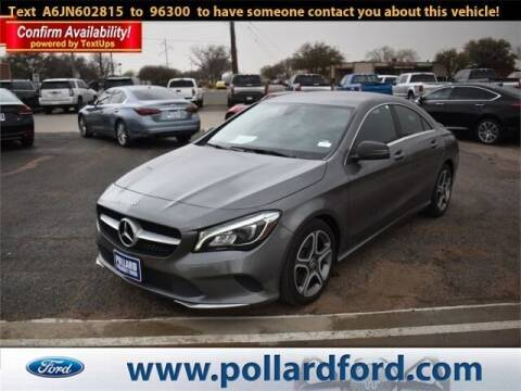2018 Mercedes-Benz CLA for sale at South Plains Autoplex by RANDY BUCHANAN in Lubbock TX