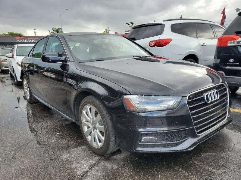 2015 Audi A4 for sale at America Auto Wholesale Inc in Miami FL