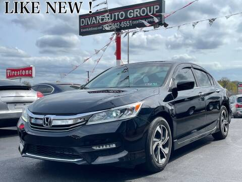 2017 Honda Accord for sale at Divan Auto Group in Feasterville PA