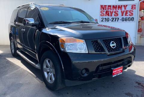 2012 Nissan Armada for sale at Manny G Motors in San Antonio TX