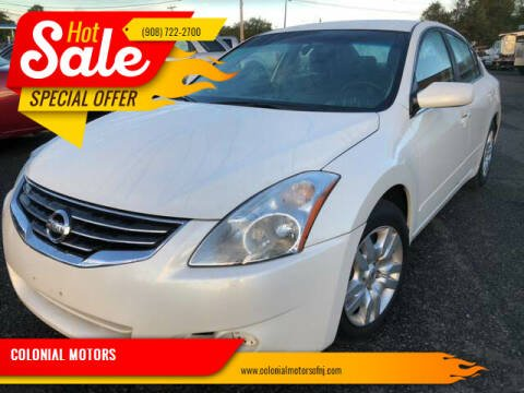 2011 Nissan Altima for sale at COLONIAL MOTORS in Branchburg NJ