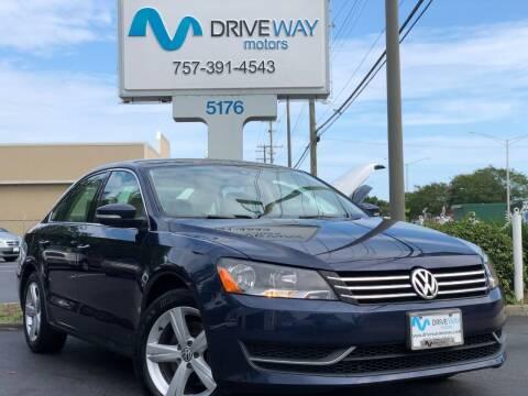 2014 Volkswagen Passat for sale at Driveway Motors in Virginia Beach VA