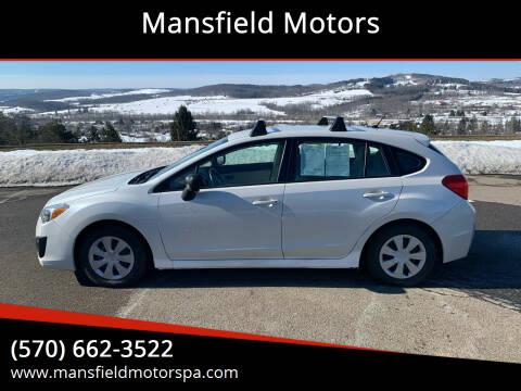 2012 Subaru Impreza for sale at Mansfield Motors in Mansfield PA