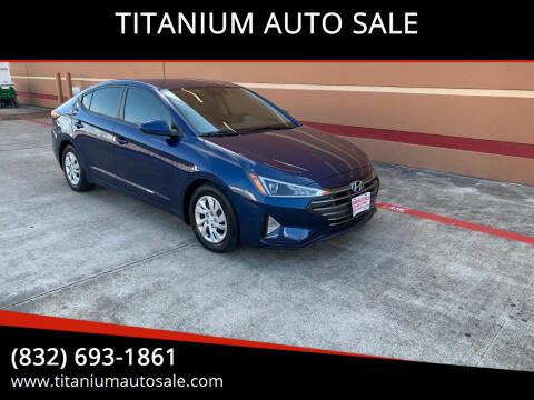 2020 Hyundai Elantra for sale at TITANIUM AUTO SALE in Houston TX
