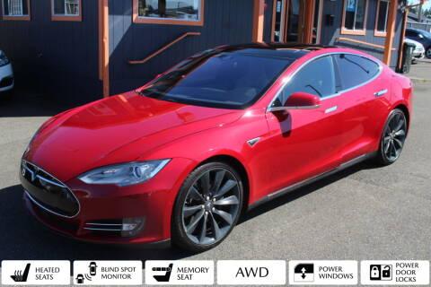 2015 Tesla Model S for sale at Sabeti Motors in Tacoma WA