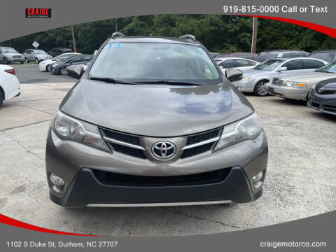 2013 Toyota RAV4 for sale at CRAIGE MOTOR CO in Durham NC