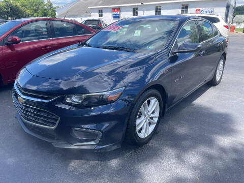 2016 Chevrolet Malibu for sale at Chilson-Wilcox Inc Lawrenceville in Lawrenceville PA