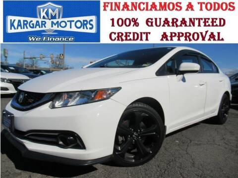 2015 Honda Civic for sale at Kargar Motors of Manassas in Manassas VA