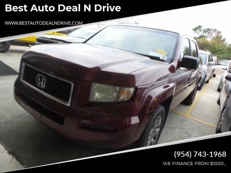 2007 Honda Ridgeline for sale at Best Auto Deal N Drive in Hollywood FL