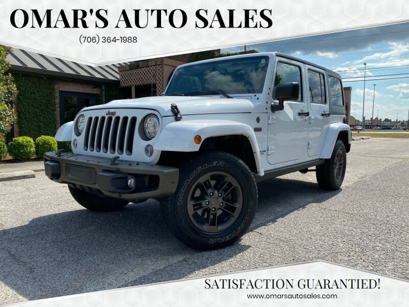 2017 Jeep Wrangler Unlimited for sale at Omar's Auto Sales in Martinez GA