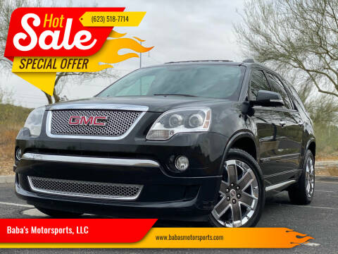2012 GMC Acadia for sale at Baba's Motorsports, LLC in Phoenix AZ