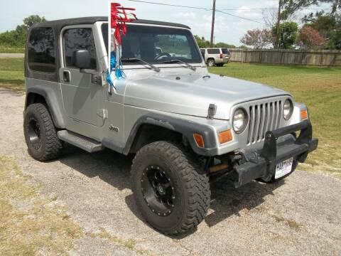 2004 Jeep Wrangler for sale at Hartman's Auto Sales in Victoria TX