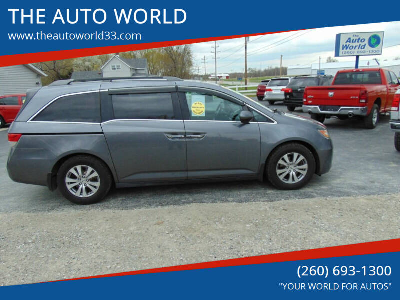 2014 Honda Odyssey for sale at THE AUTO WORLD in Churubusco IN