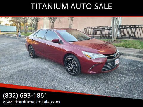 2017 Toyota Camry for sale at TITANIUM AUTO SALE in Houston TX