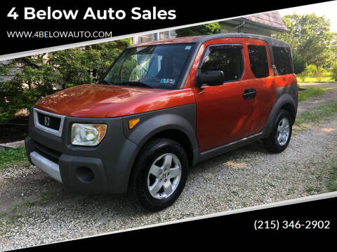 2003 Honda Element for sale at 4 Below Auto Sales in Willow Grove PA