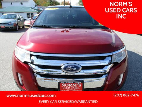 2013 Ford Edge for sale at NORM'S USED CARS INC in Wiscasset ME