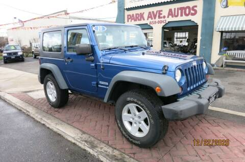 2010 Jeep Wrangler for sale at PARK AVENUE AUTOS in Collingswood NJ