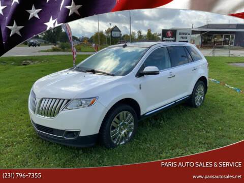 2013 Lincoln MKX for sale at Paris Auto Sales & Service in Big Rapids MI