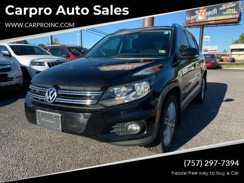 2013 Volkswagen Tiguan for sale at Carpro Auto Sales in Chesapeake VA