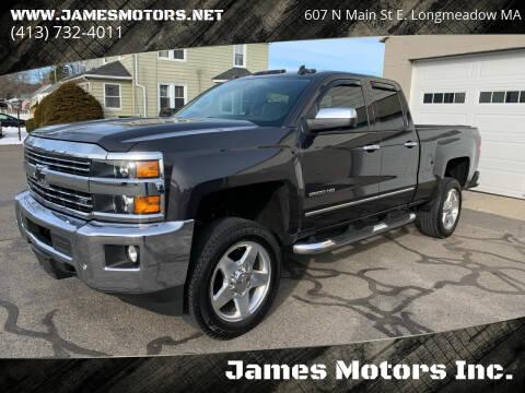 2015 Chevrolet Silverado 2500HD for sale at James Motors Inc. in East Longmeadow MA