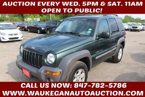 2002 Jeep Liberty for sale at Waukegan Auto Auction in Waukegan IL