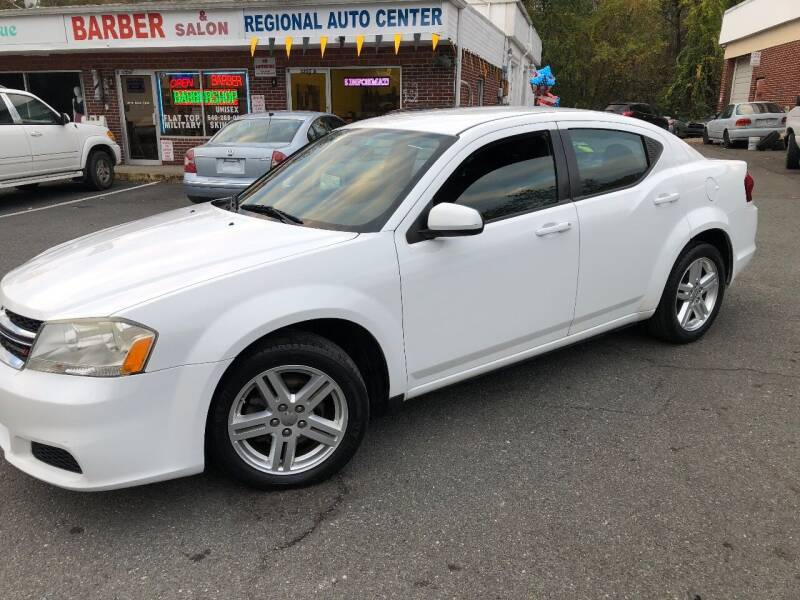 2012 Dodge Avenger for sale at REGIONAL AUTO CENTER in Fredericksburg VA