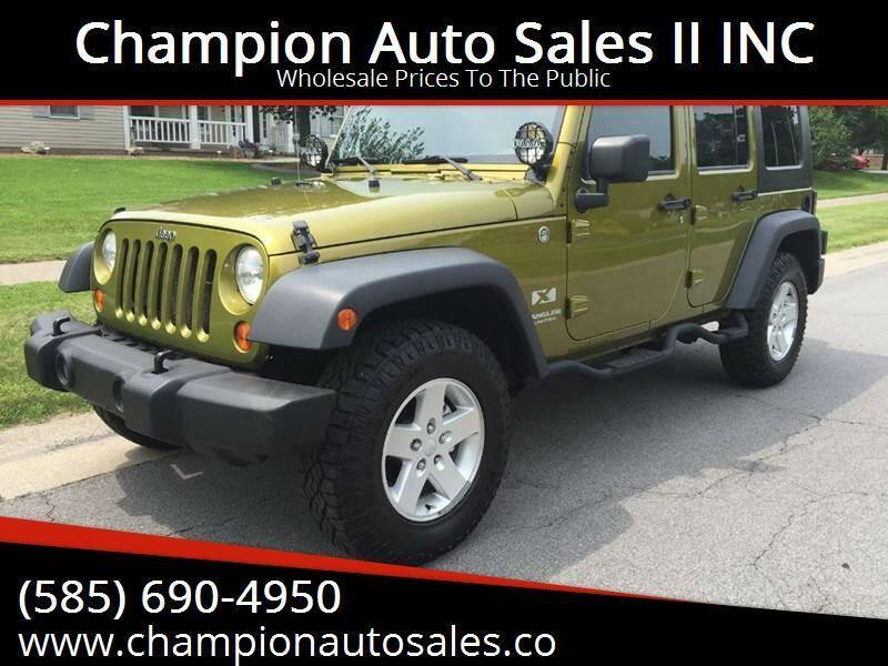 2007 Jeep Wrangler Unlimited for sale at Champion Auto Sales II INC in Rochester NY