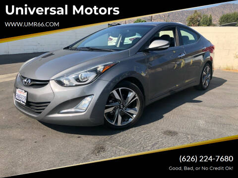 2014 Hyundai Elantra for sale at Universal Motors in Glendora CA