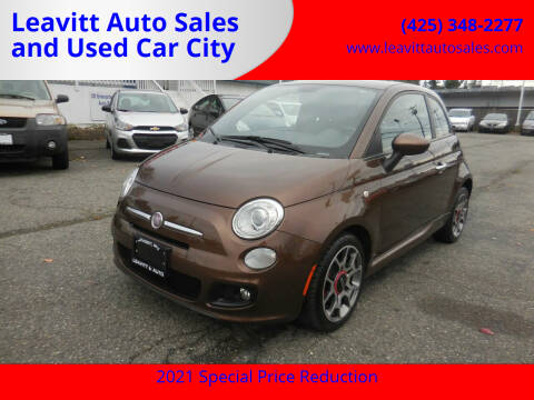 2012 FIAT 500 for sale at Leavitt Auto Sales and Used Car City in Everett WA