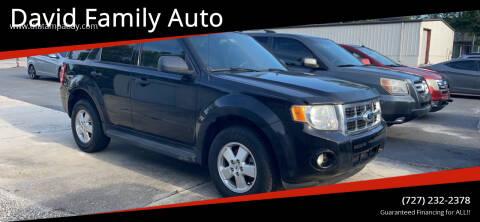 2012 Ford Escape for sale at David Family Auto in New Port Richey FL
