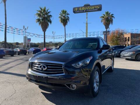2012 Infiniti FX35 for sale at A MOTORS SALES AND FINANCE in San Antonio TX