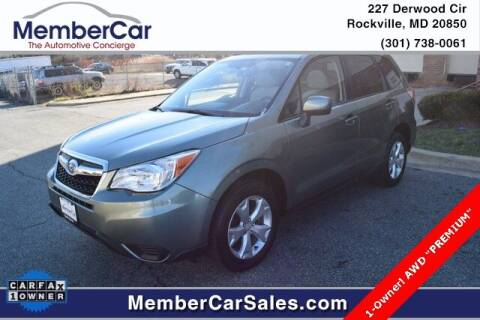 2014 Subaru Forester for sale at MemberCar in Rockville MD