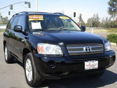 2006 Toyota Highlander Hybrid for sale at PRIMETIME AUTOS in Sacramento CA