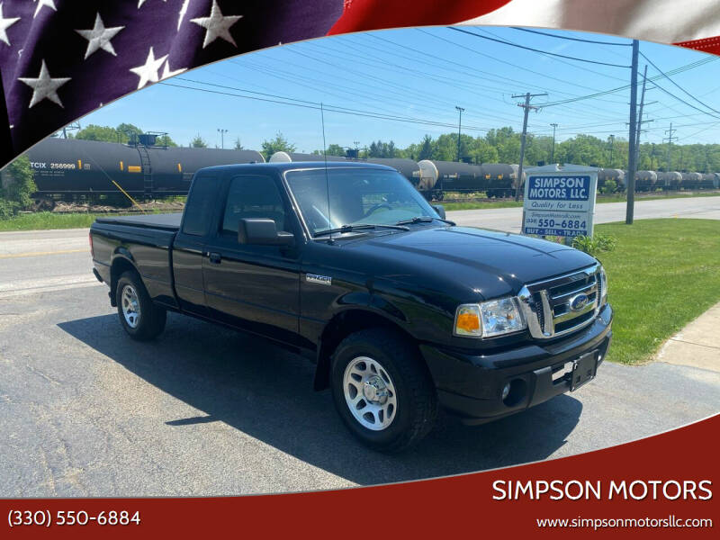 2011 Ford Ranger for sale at SIMPSON MOTORS in Youngstown OH