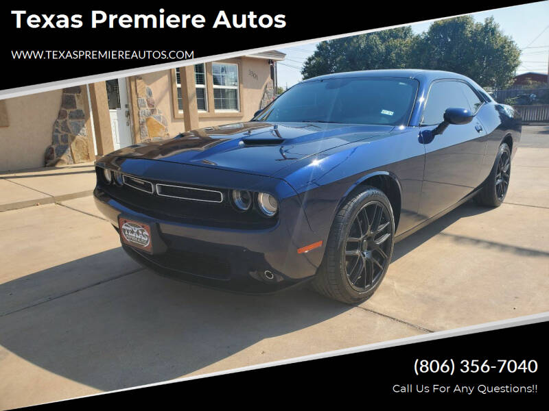 2015 Dodge Challenger for sale at Texas Premiere Autos in Amarillo TX