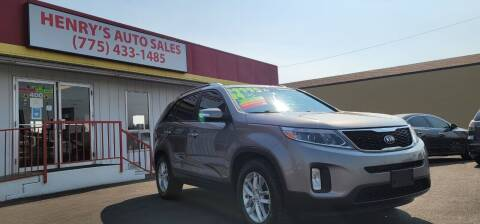 2014 Kia Sorento for sale at Henry's Autosales, LLC in Reno NV