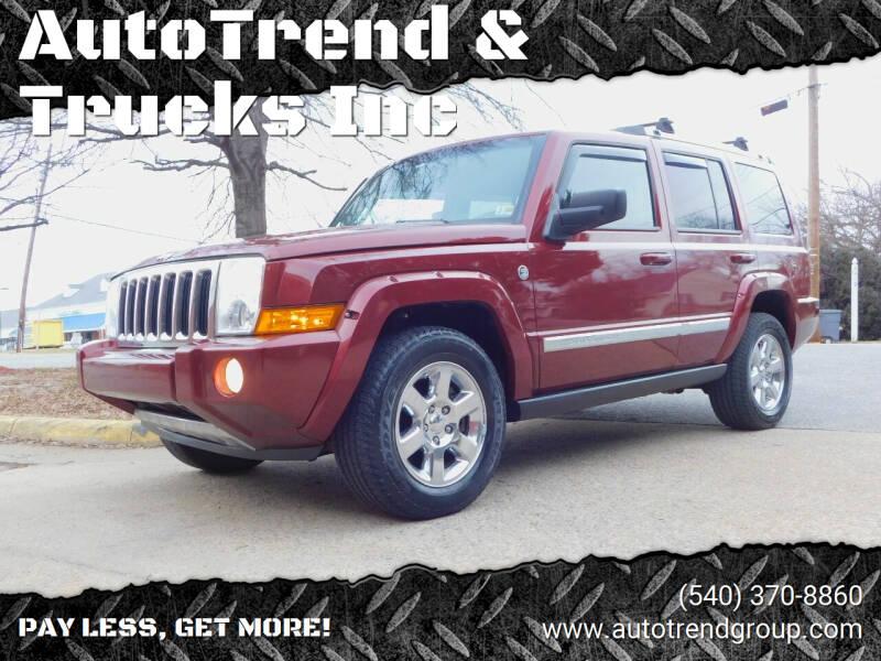 2008 Jeep Commander for sale at AutoTrend & Trucks Inc in Fredericksburg VA