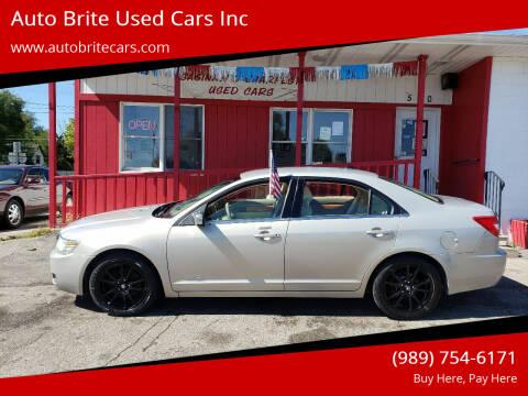 2009 Lincoln MKZ for sale at Auto Brite Used Cars Inc in Saginaw MI