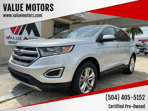 2015 Ford Edge for sale at VALUE MOTORS in Kenner LA
